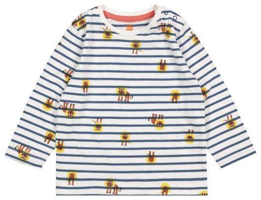 baby T-shirt blue blue - 1000017540 - hema