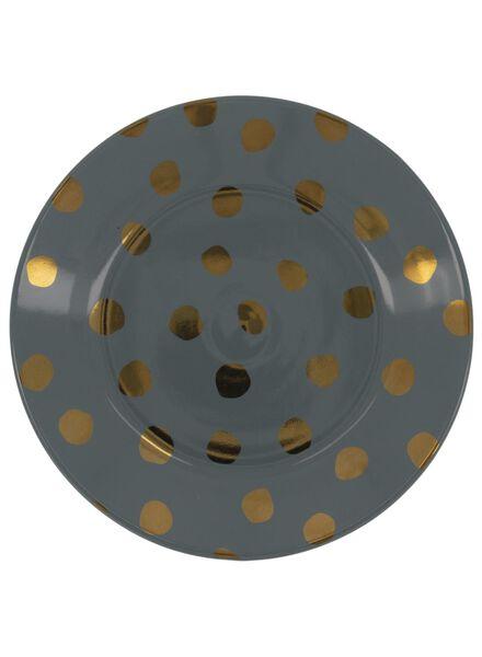 assiette à dessert - 17 cm - Bergen - vert à pois dorés - 9602086 - HEMA
