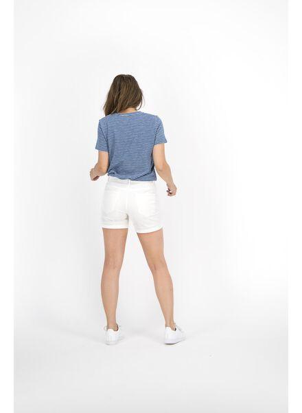 check-out a2128 1cd58 pantacourt femme blanc