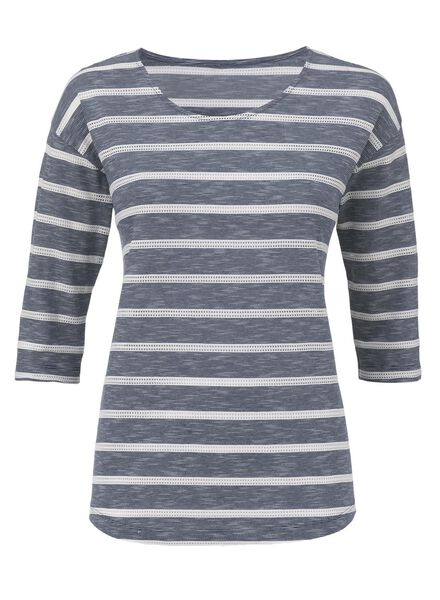 women's T-shirt dark blue dark blue - 1000007232 - hema