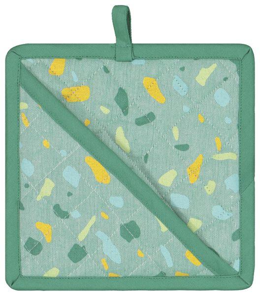 manique coton 21x21 terrazzo vert - 5420011 - HEMA