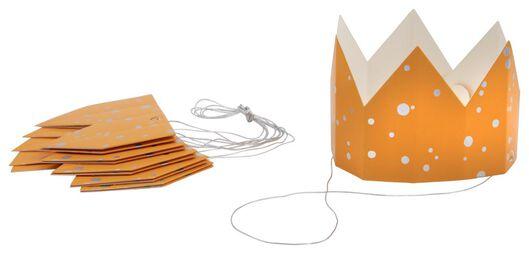 6couronnes en papier orange - 14200539 - HEMA