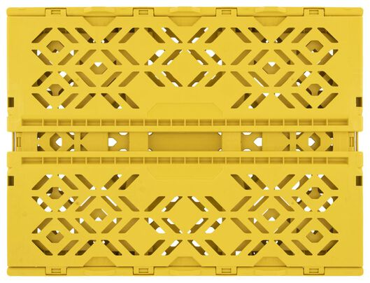 Klappkiste, recycelt, 30 x 40 x 15 cm, ockergelb - 39821054 - HEMA