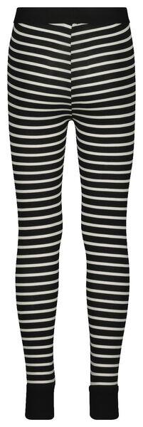 children's leggings mini-me black/white black/white - 1000019292 - hema