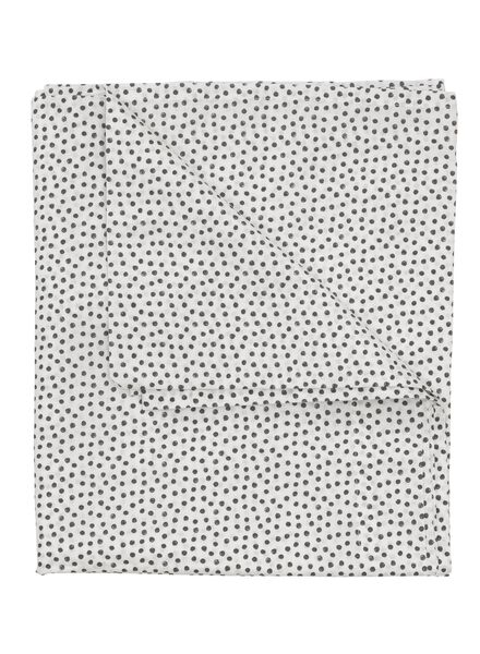 sheet - 150 x 255 - soft cotton - white dots - 5100028 - hema