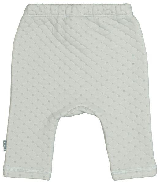 pantalon sweat nouveau-né surpiqûre gris gris - 1000021808 - HEMA