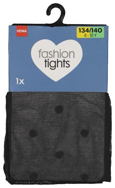 Kinder-Strumpfhose, gepunktet schwarz schwarz - 1000016847 - HEMA