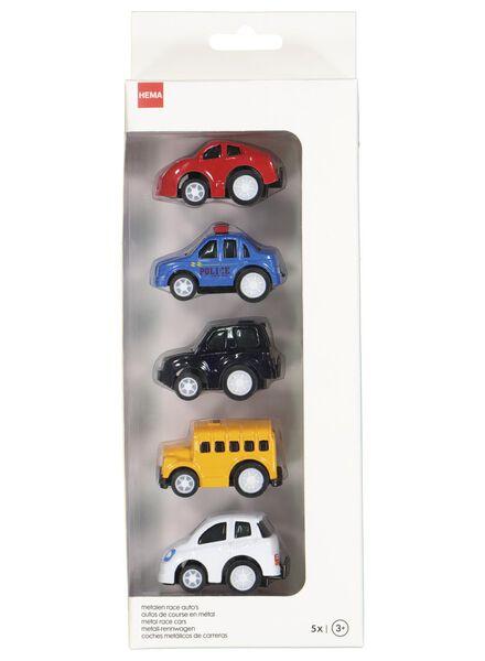 5er-Pack Rennwagen, Metall - 15160109 - HEMA
