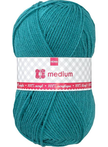 Strickgarn Medium Medium, 100 g grün - 1400043 - HEMA