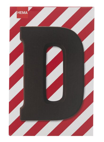 dark chocolate letter D - 10034003 - hema
