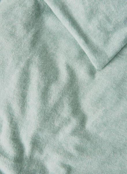 housse de couette-flanelle-240x220cm-vert - 5710060 - HEMA