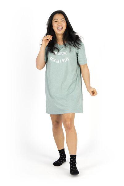women's nightshirt green green - 1000018722 - hema