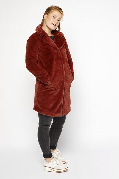 Damen-Jacke, Webpelz braun braun - 1000020989 - HEMA