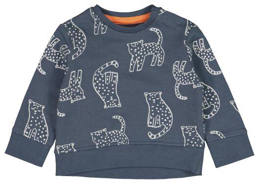 Babyoberteile - HEMA Newborn Sweatshirt, Tiger Dunkelblau - Onlineshop HEMA