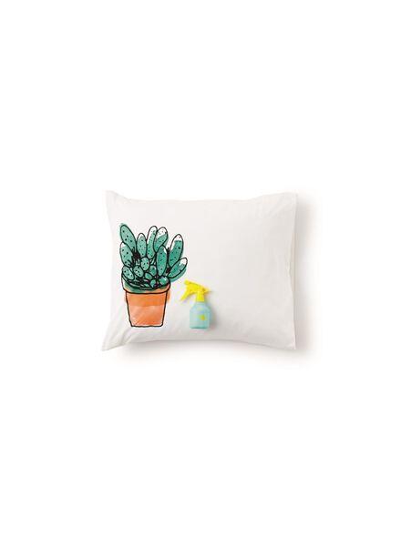 duvet cover - soft cotton - white cactus multi multi - 1000014116 - hema