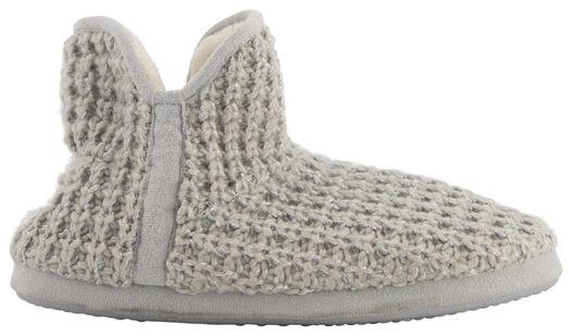 pantoufles femme tricot gris gris - 1000021113 - HEMA