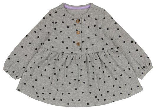 Babykleiderroecke - HEMA Baby Kleid, Gerippt, Punkte Eierschalenfarben - Onlineshop HEMA