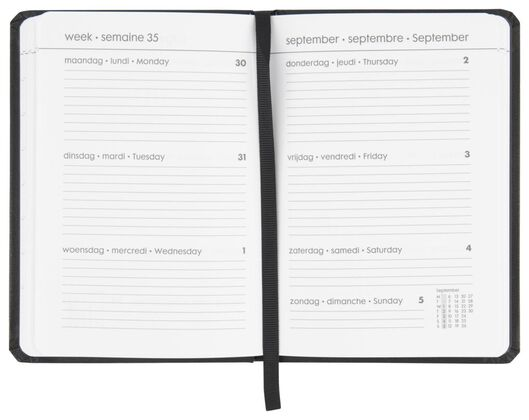 agenda 2021 multilingue - 15x11 - noir - 14622203 - HEMA