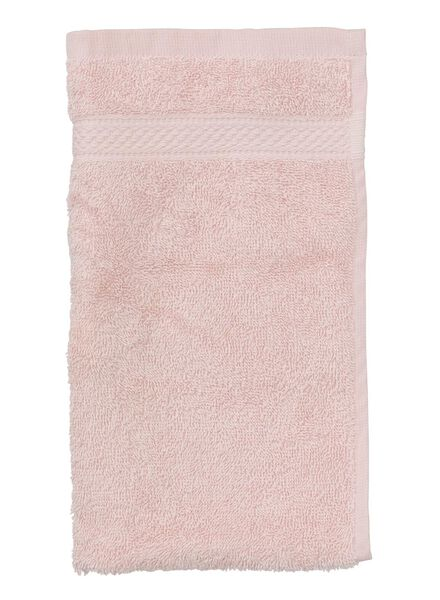 guest towel - 30 x 55 cm - heavy quality - light pink plain light pink guest towel - 5240011 - hema