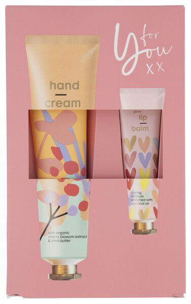 cadeauset handcrème en lippenbalsem - 11314423 - HEMA