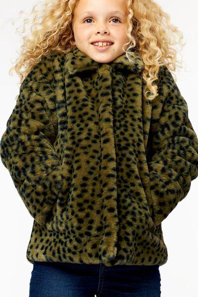 manteau enfant teddy vert armée vert armée - 1000024393 - HEMA