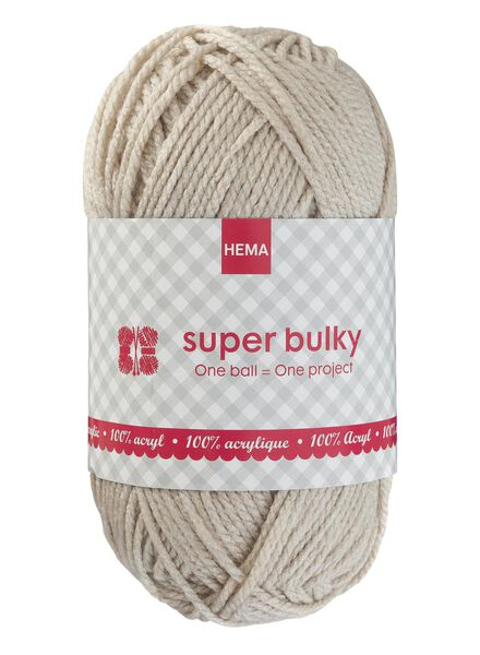 knitting yarn super bulky - wool white - 1400071 - hema