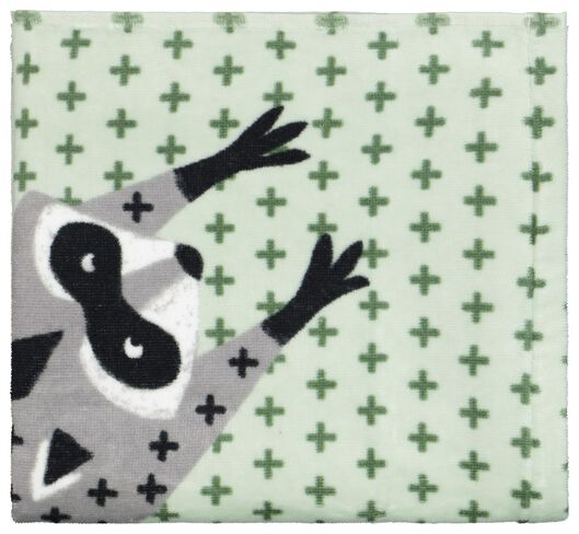 serviette de bain - velours - 50x100 - raton laveur - 5210118 - HEMA