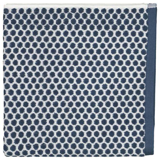 serviette de bain - 70 x 140 - qualité épaisse - pois - bleu jean denim serviette 70 x 140 - 5210090 - HEMA