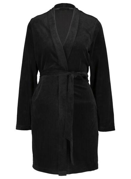 women's bathrobe black black - 1000016836 - hema