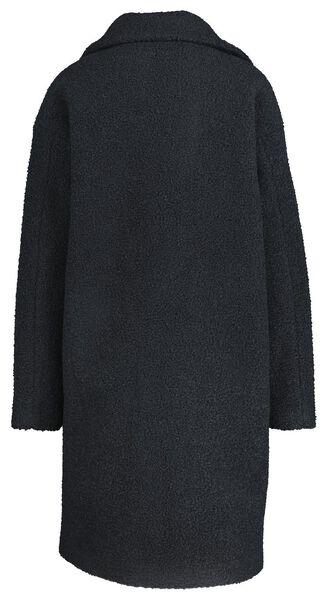 Damen-Jacke, Teddystoff dunkelblau dunkelblau - 1000020769 - HEMA