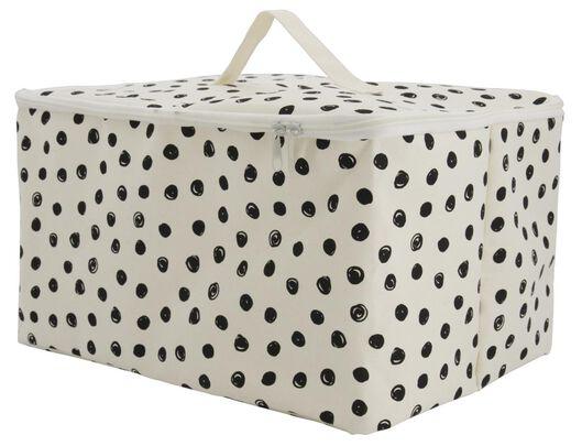 canvas basket with zip 27x36x20 dots - 39821118 - hema