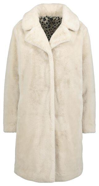 Damen-Jacke, Webpelz beige beige - 1000020557 - HEMA