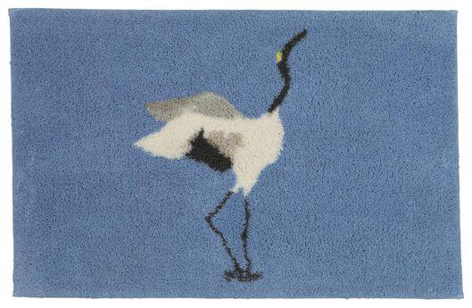 bath mat with common crane 50x80 blue - 5200152 - hema