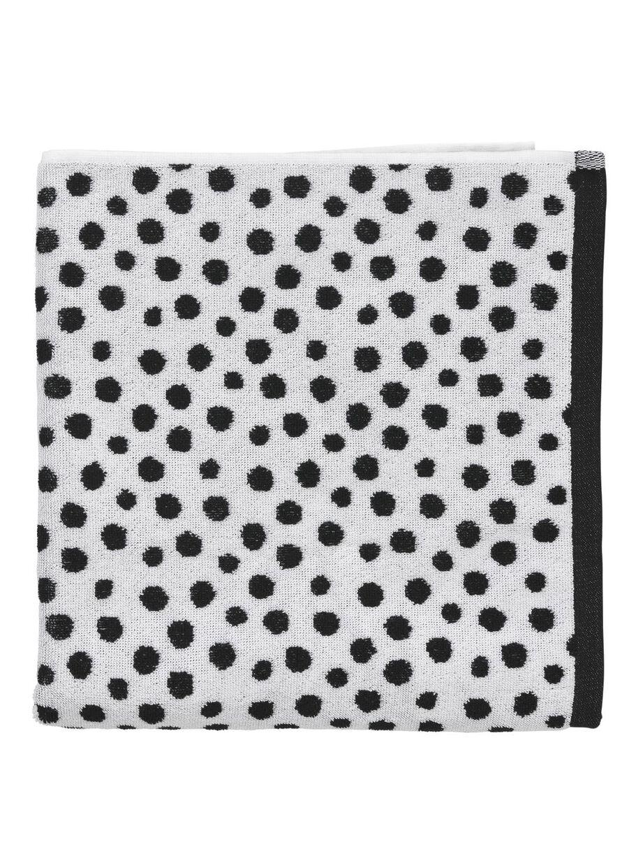 66a6f7d2a6b handdoek - 70 x 140 cm - zware kwaliteit - wit zwart stip