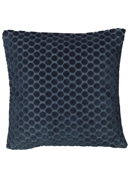 cushion cover - 40x40 - dark blue velvet - 7392038 - hema