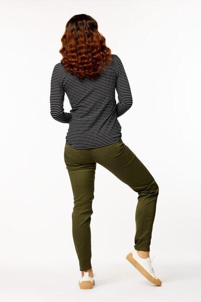 dames t-shirt smalle streep multi multi - 1000023498 - HEMA