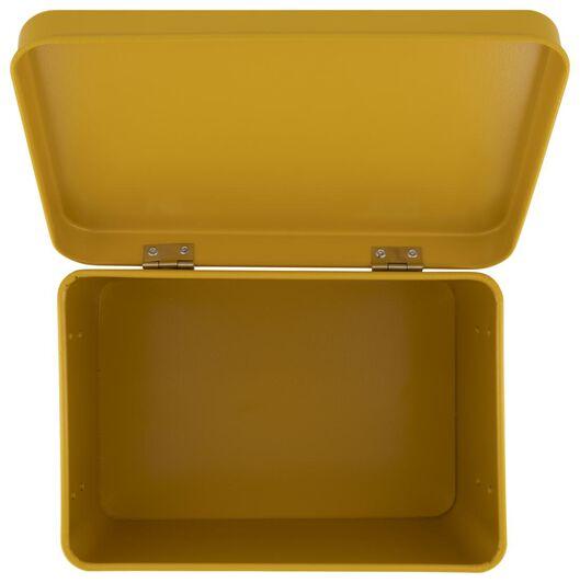 metal medicine box 15.5x22.5x16 yellow ochre - 80300145 - hema