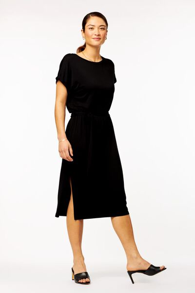 damesjurk zwart zwart - 1000023907 - HEMA