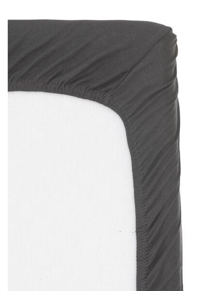 Spannbettlaken Topper - Baumwolljersey - 160x200cm - dunkelgrau - 5100161 - HEMA