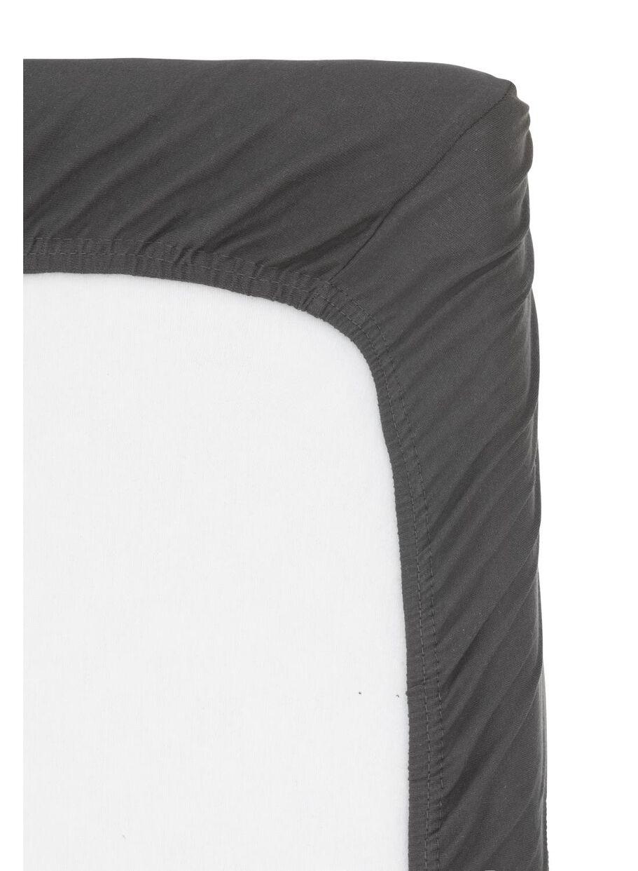 Topmatras 180 X 220.Fitted Mattress Topper Jersey Cotton 180x220 Cm Dark Grey Hema