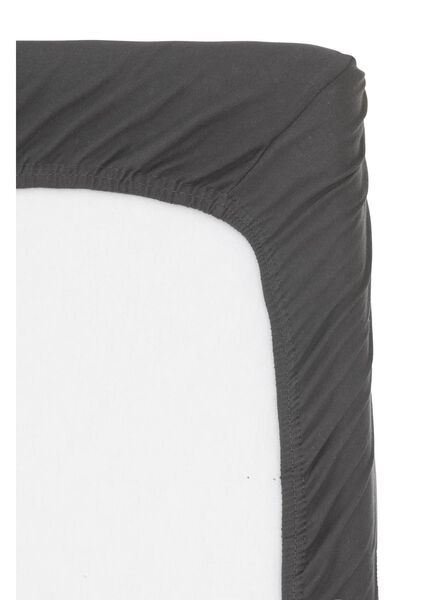 Spannbettlaken Topper - Baumwolljersey - 180x220cm - dunkelgrau dunkelgrau 180 x 220 - 5100163 - HEMA