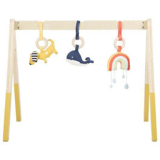 Image of HEMA Baby Gym Wooden 46.5x60x55.5 (yellow)