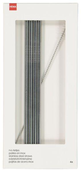 4 straws stainless steel - 14210129 - hema