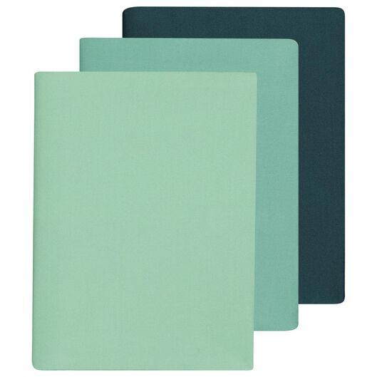 3er-Pack elastische Buchschoner, grün - 14501271 - HEMA