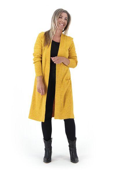 Damen-Strickjacke ocker ocker - 1000021005 - HEMA