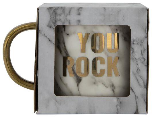 mug Ø 9 cm «you rock» - 61122301 - HEMA