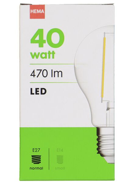 LED light bulb 40W - 470 lm - pear - bright - 20020008 - hema