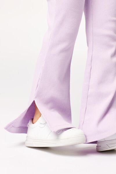 Kinder-Leggings, gerippt, Schlaghosenschnitt lila lila - 1000023811 - HEMA