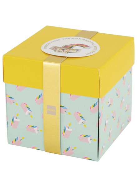Überraschungs-Schachtel, mittel, 10 x 10 x 10 cm - 14700263 - HEMA