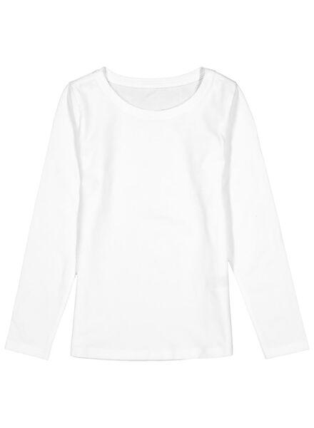 2 t-shirts pour enfant - coton biologique blanc blanc - 1000013796 - HEMA